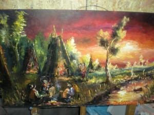 Tablouri cu peisaje: Silivestru Mircea - tiganii cu cortul